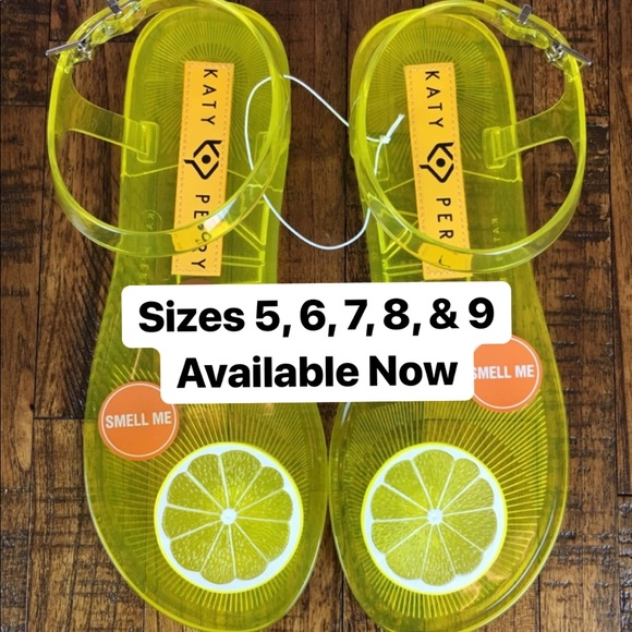 720bed9da23 Katy Perry Shoes - NEW Katy Perry Geli Lemon Flat Sandal Fruit Scent